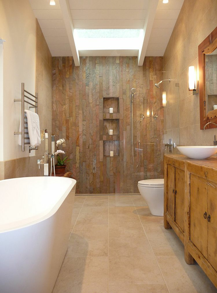Baño Rustico Moderno:Cómo decorar tu cuarto de baño al estilo rústico