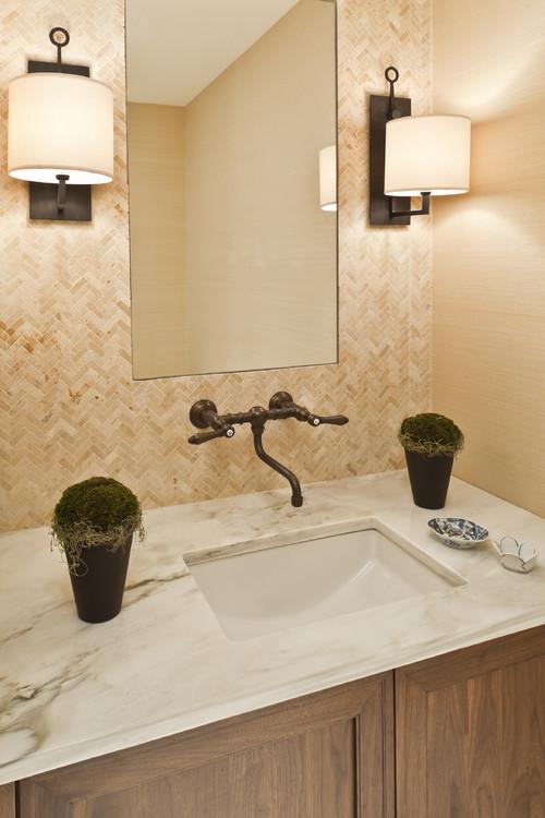 C mo decorar tu cuarto de ba o al estilo r stico for Griferia antigua bano