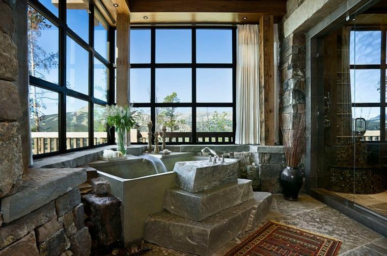 Baño Rustico Moderno:bano-rustico-y-moderno