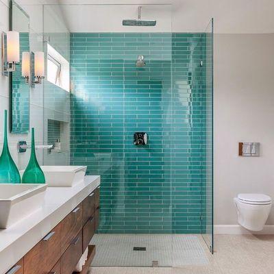 C mo utilizar los colores en el cuarto de ba o - Limpiar juntas azulejos ducha ...