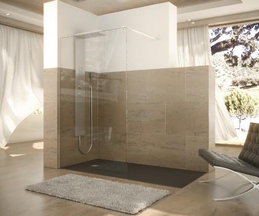 Mamparas de lateral fijo c mo son y recomendaciones sobre - Instalar una mampara de ducha ...