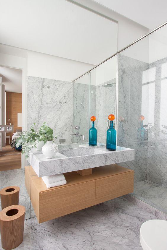 Baños Modernos En Marmol:marmol-en-el-bano-tendencias-2016-blog-banojpg