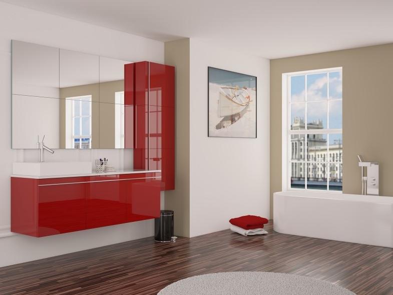mueble-de-bano-rojo