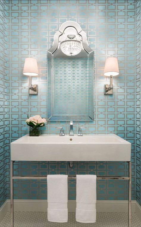 El papel pintado como herramienta decorativa en el cuarto - Empapelar sobre azulejos ...