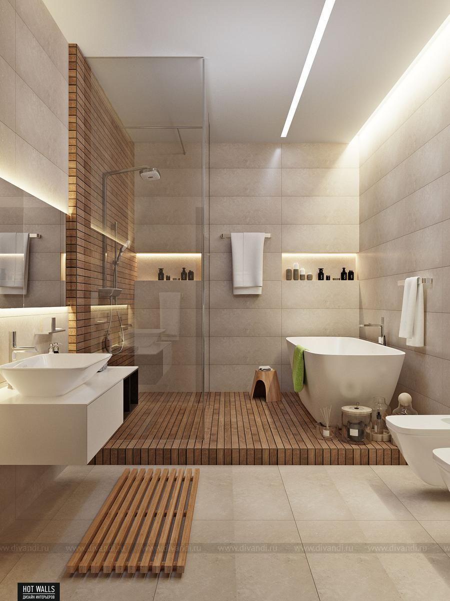 Tendencias en cuartos de ba o para este 2018 2019 lo for Pisos y paredes para banos modernos