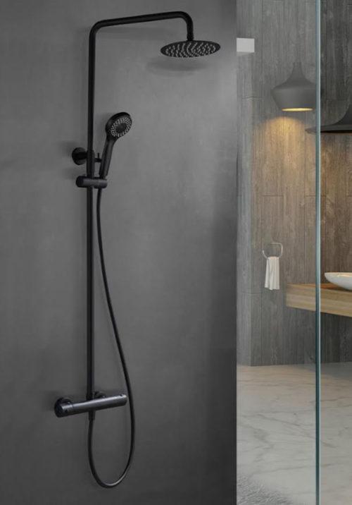 Conjuntos de ducha negros